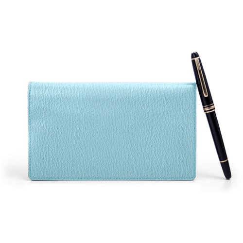 Week-To-Week pocket diary - Sky Blue - Goat Leather