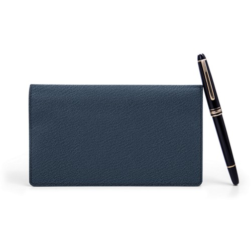 Week-to-Week Pocket Diary  - Navy Blue - Goat Leather
