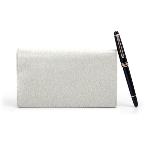 Week-To-Week pocket diary - White - Goat Leather