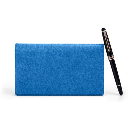 Week-to-Week Pocket Diary  - Royal Blue - Goat Leather
