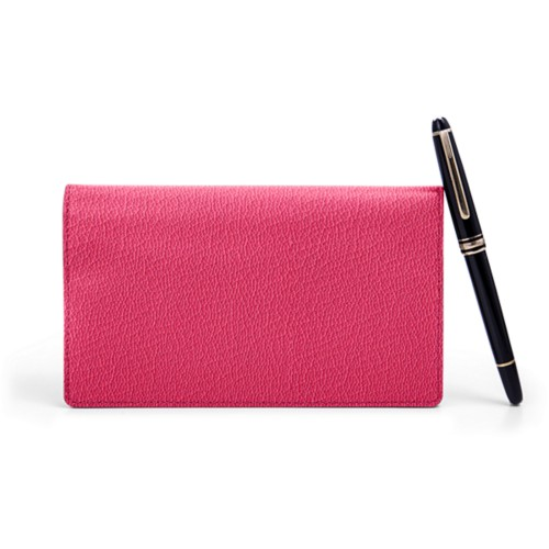 Week-To-Week pocket diary - Fuchsia  - Goat Leather