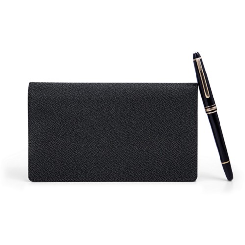 Week-To-Week pocket diary - Black - Goat Leather
