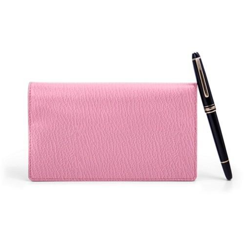 Week-To-Week pocket diary - Pink - Goat Leather