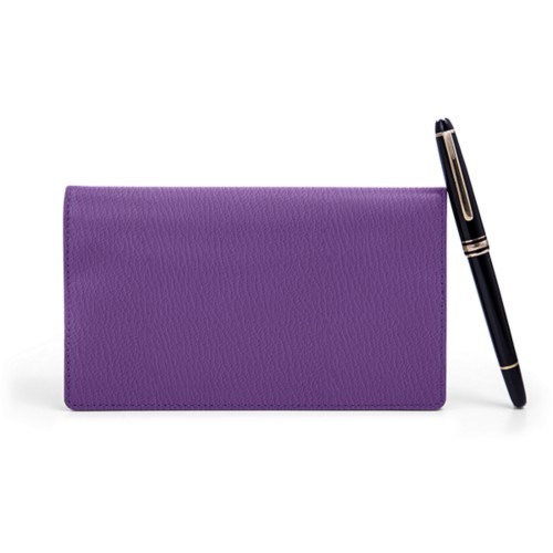 Week-To-Week pocket diary - Purple - Goat Leather