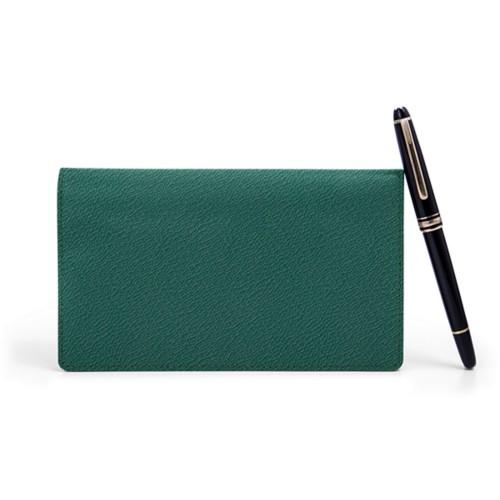 Agenda Tascabile Settimanale - Verde scuro - Pelle di Capra