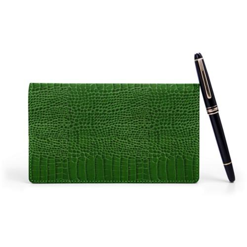 Week-to-Week Pocket Diary  - Light Green - Crocodile style calfskin