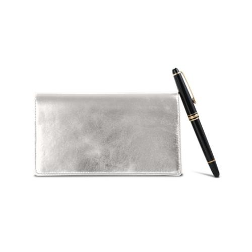 Week-To-Week pocket diary - Silver - Metallic Leather