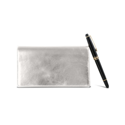 Week-To-Week pocket diary - Silver - Metallic Leather