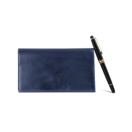 Week-To-Week pocket diary - Navy Blue - Metallic Leather