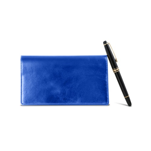 Week-To-Week pocket diary - Royal Blue - Metallic Leather