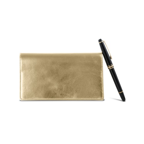 Week-To-Week pocket diary - Golden - Metallic Leather