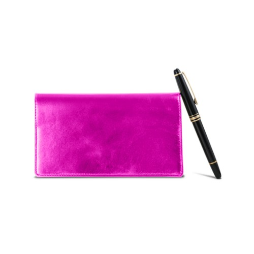 Week-To-Week pocket diary - Fuchsia  - Metallic Leather