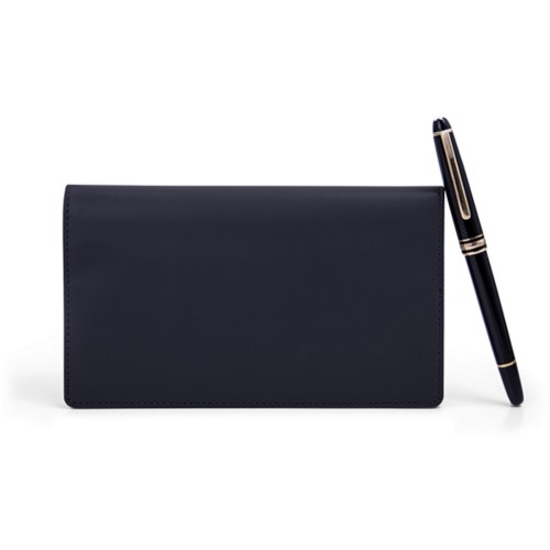 Week-To-Week pocket diary - Navy Blue - Smooth Leather