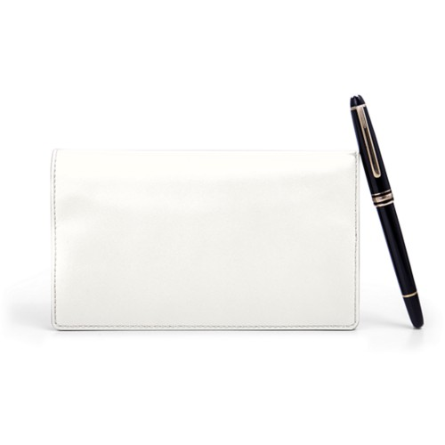 Week-To-Week pocket diary - White - Smooth Leather