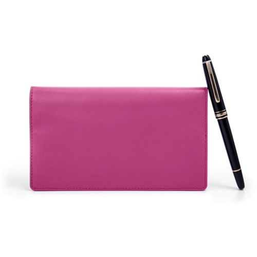 Week-To-Week pocket diary - Fuchsia  - Smooth Leather