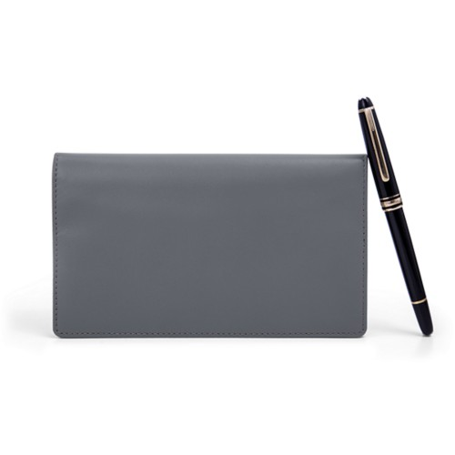 Week-To-Week pocket diary - Mouse-Grey - Smooth Leather
