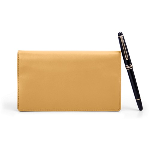 Week-to-Week Pocket Diary  - Mustard Yellow - Smooth Leather