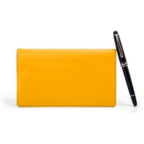 Week-To-Week pocket diary - Sun Yellow - Smooth Leather