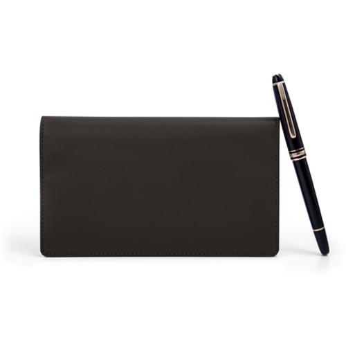 Week-To-Week pocket diary - Dark Brown - Smooth Leather