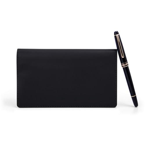 Week-To-Week pocket diary - Black - Smooth Leather