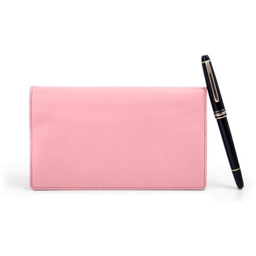 Week-to-Week Pocket Diary  - Pink - Smooth Leather
