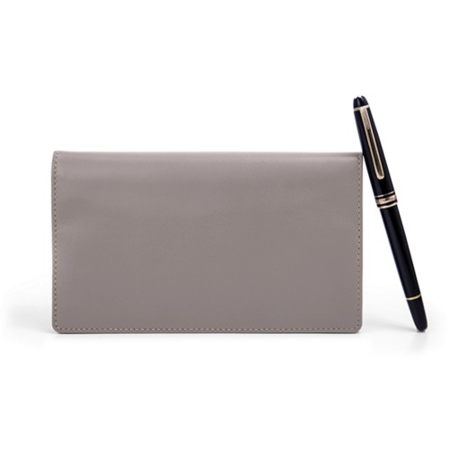 Week-To-Week pocket diary - Light Taupe - Smooth Leather