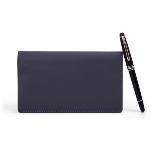 Week-To-Week pocket diary - Purple - Smooth Leather