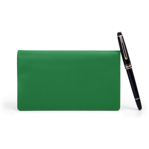 Week-to-Week Pocket Diary  - Light Green - Smooth Leather