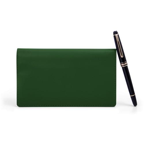 Week-To-Week pocket diary - Dark Green - Smooth Leather