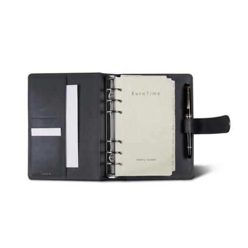 Medium Organizer (140 x 195 mm) - Mouse-Grey - Crocodile style calfskin