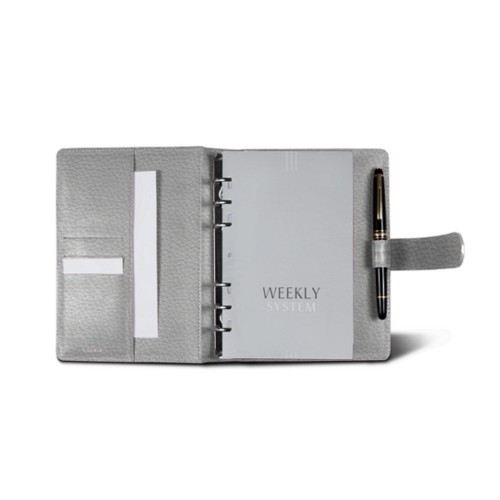 Medium Organizer (140 x 195 mm) - White - Granulated Leather