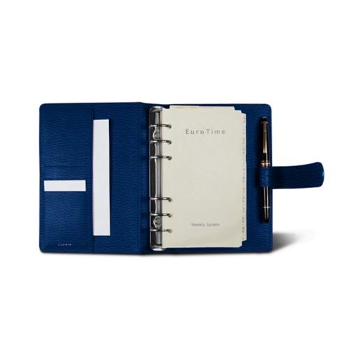 Medium Organizer (140 x 195 mm) - Royal Blue - Granulated Leather