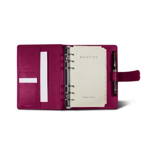 Medium Organizer (140 x 195 mm) - Fuchsia  - Granulated Leather