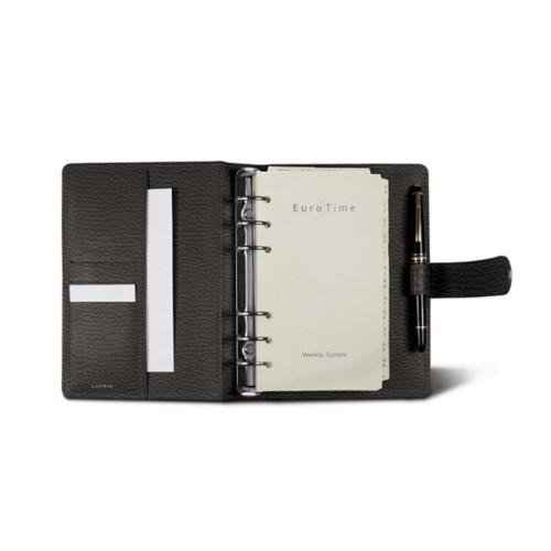 Medium Organizer (140 x 195 mm) - Mouse-Grey - Granulated Leather