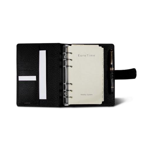 Medium Organizer (140 x 195 mm) - Black - Granulated Leather