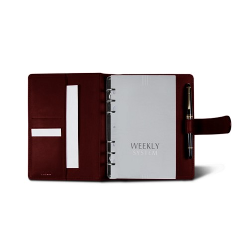 Medium Organizer (140 x 195 mm) - Burgundy - Smooth Leather