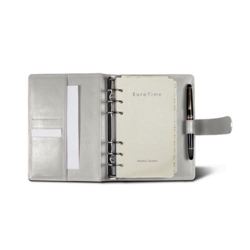 Medium Organizer (140 x 195 mm) - White - Smooth Leather