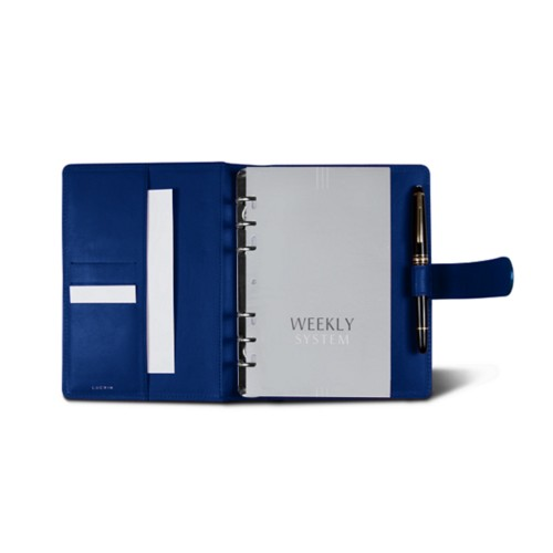 Medium Organizer (140 x 195 mm) - Royal Blue - Smooth Leather