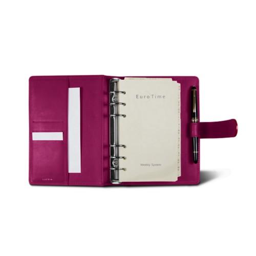 Medium Organizer (140 x 195 mm) - Fuchsia  - Smooth Leather