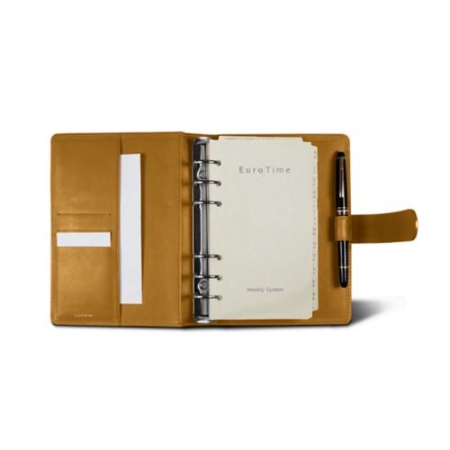 Medium Organizer (140 x 195 mm) - Mustard Yellow - Smooth Leather