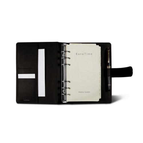 Medium Organizer (140 x 195 mm) - Dark Brown - Smooth Leather