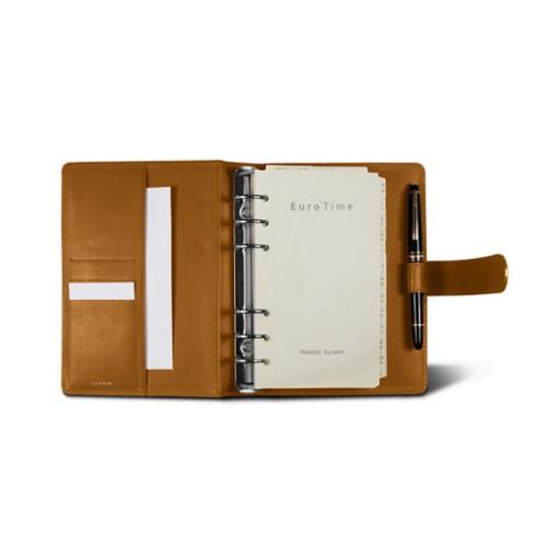 Medium Organizer (140 x 195 mm) - Natural - Smooth Leather
