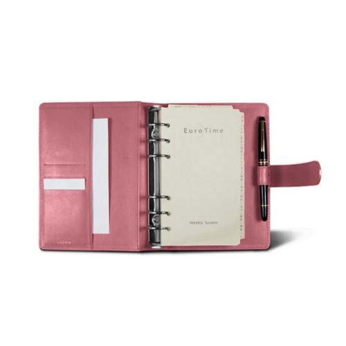 Medium Organizer (140 x 195 mm) - Pink - Smooth Leather