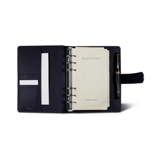 Medium Organizer (140 x 195 mm) - Purple - Smooth Leather