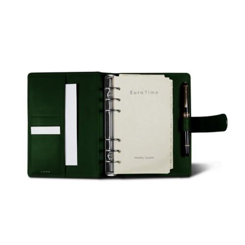 Medium Organizer (140 x 195 mm) - Dark Green - Smooth Leather
