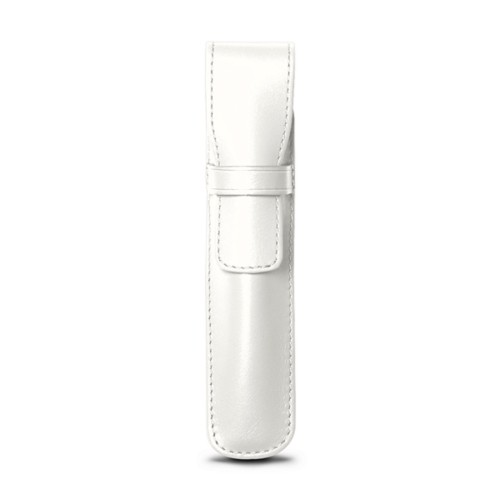 Portapenna - Bianco - Pelle Liscia