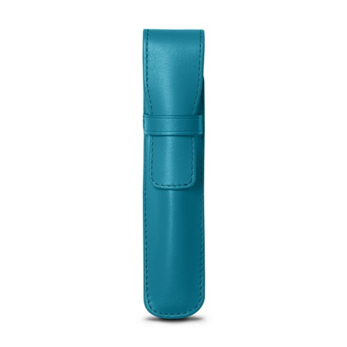 Pen holder - Turquoise - Smooth Leather