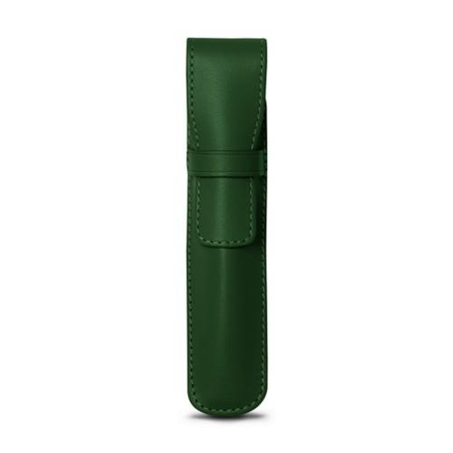 Portapenna - Verde scuro - Pelle Liscia