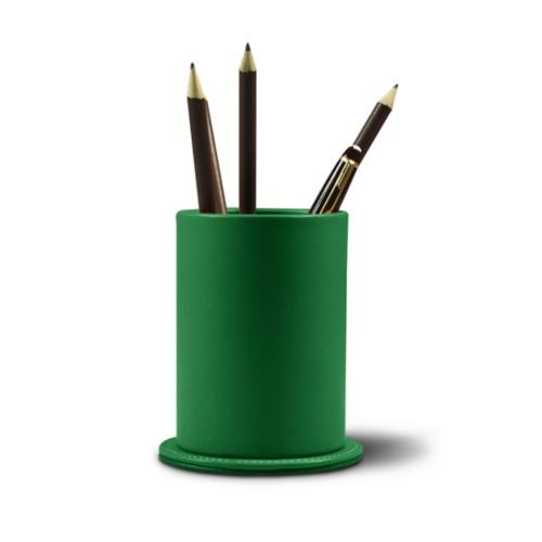 Portalápices Redondo - Verde claro - Piel Liso