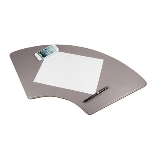 Half-moon deskpad (27.5 x 12.5 inches) - Light Taupe - Smooth Leather